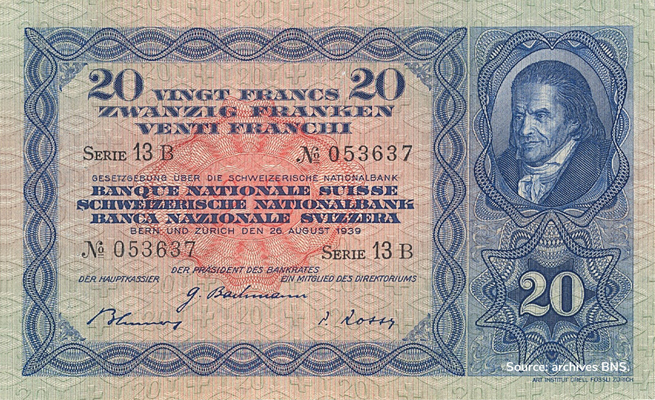 RECTO 20 francs Type 1929