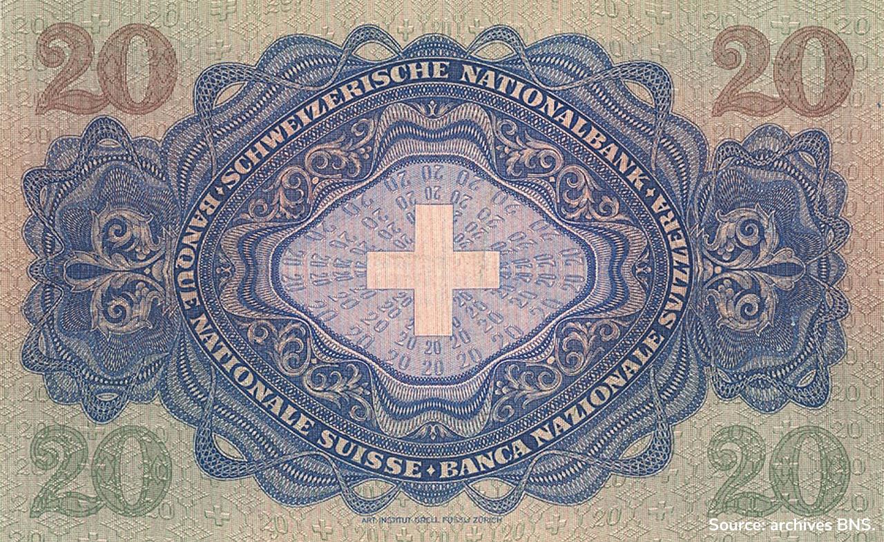 VERSO 20 francs Type 1929