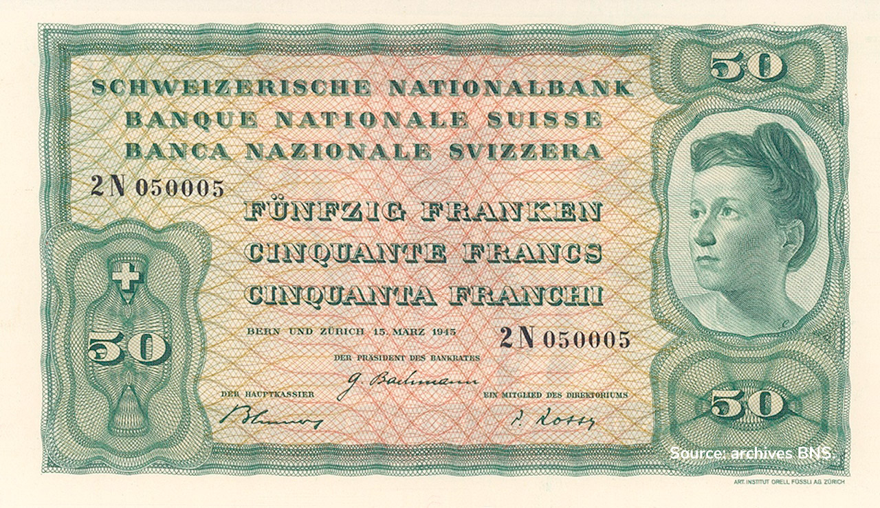 RECTO 50 francs Type 1945 not issued