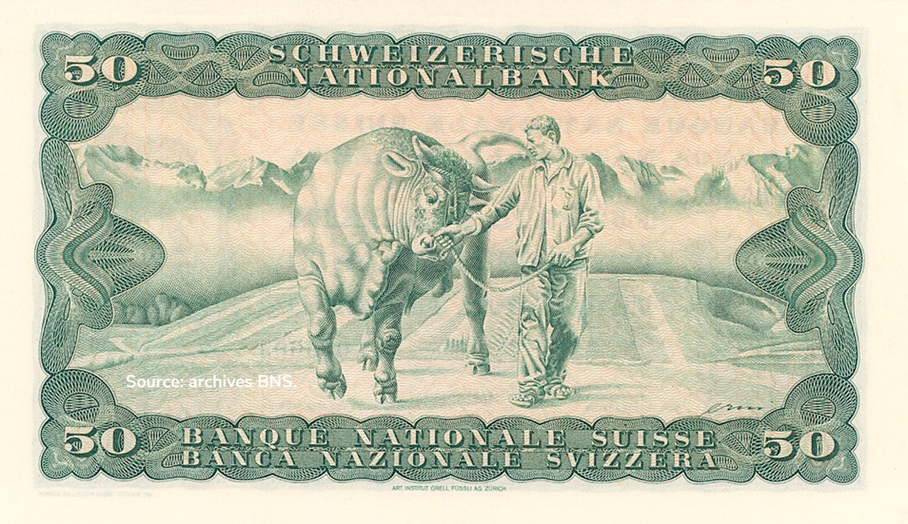 VERSO 50 francs Type 1945 not issued
