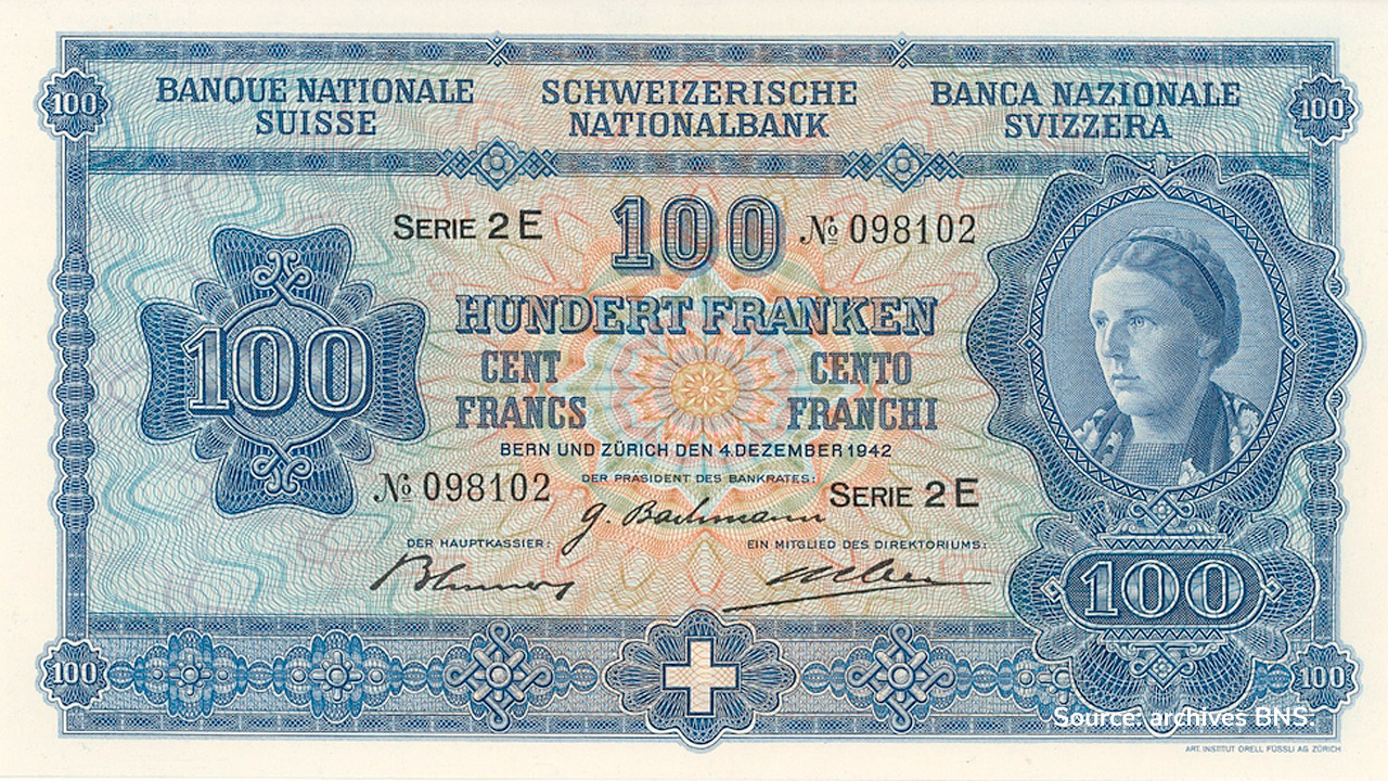 RECTO 100 francs Type 1941 not issued