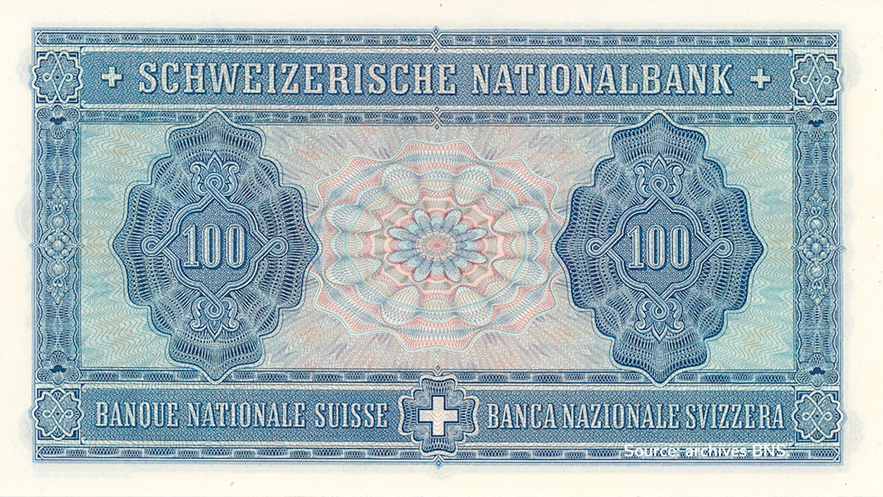 VERSO 100 francs Type 1941 not issued
