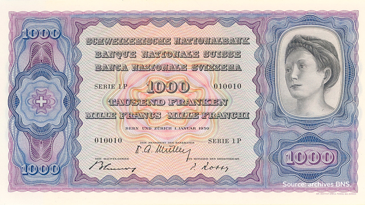 RECTO 1000 francs Type 1950 not issued