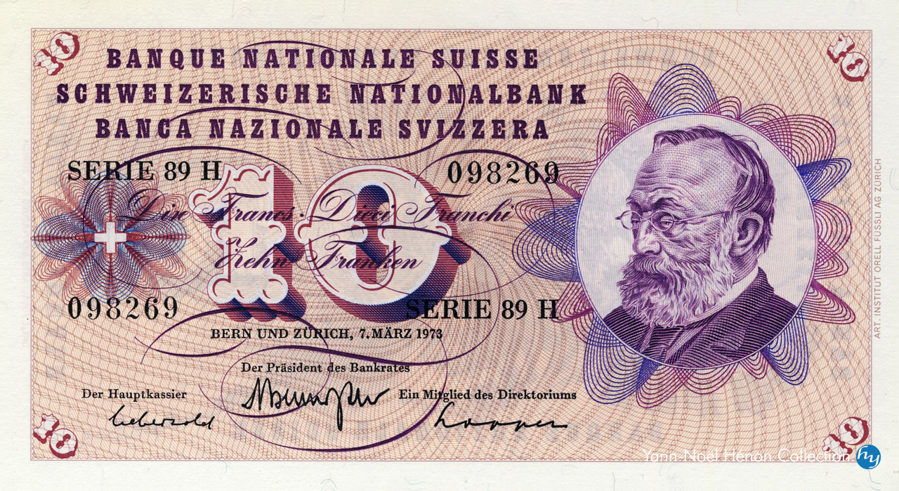 RECTO 10 francs Type 1955