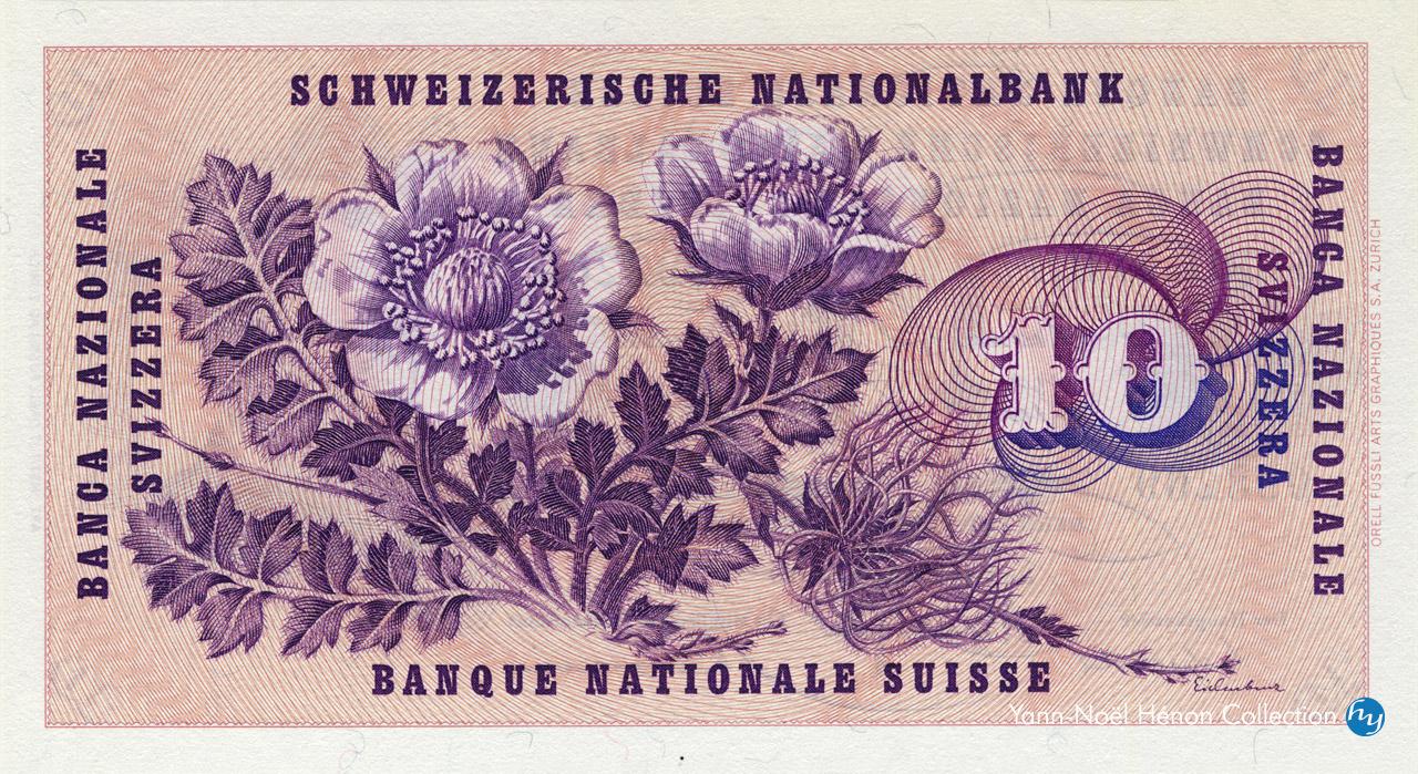 VERSO 10 francs Type 1955