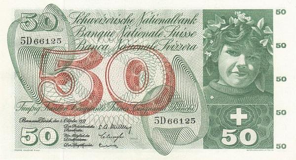 RECTO 50 francs Type 1955