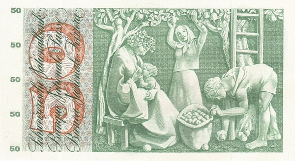 VERSO 50 francs Type 1955