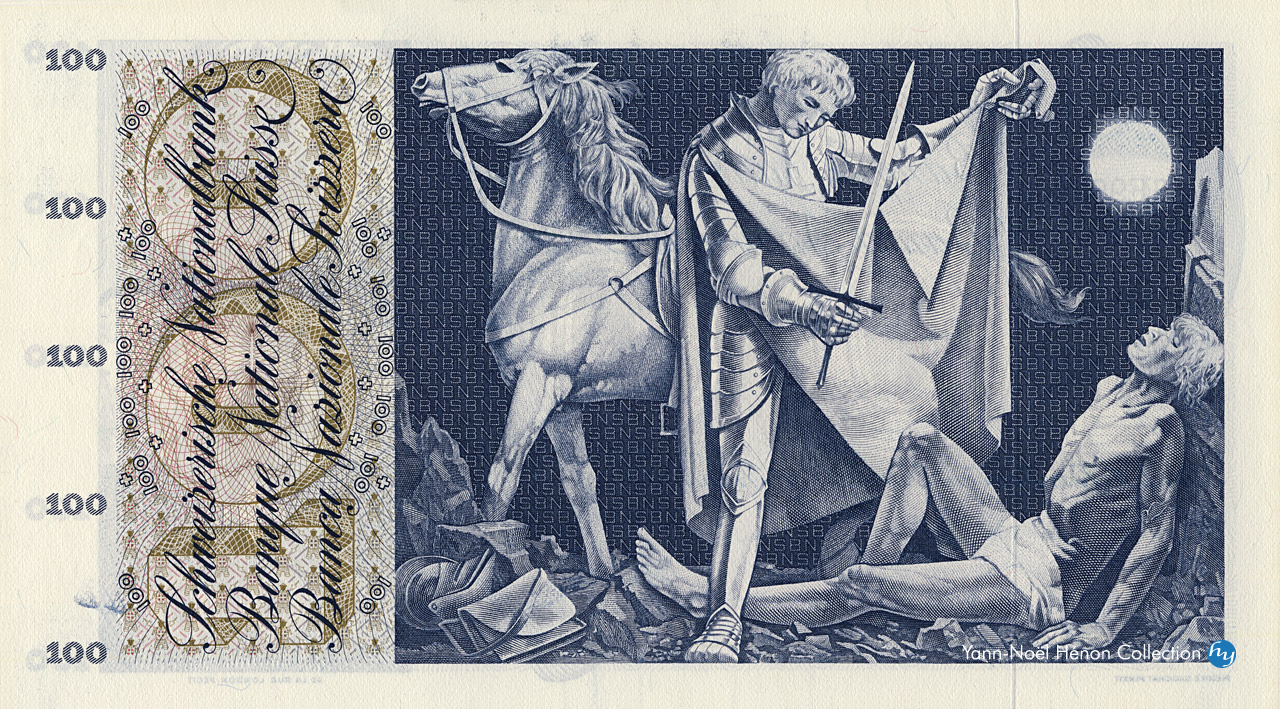 VERSO 100 francs Type 1956