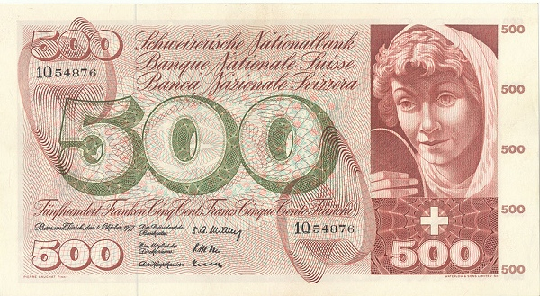 RECTO 500 francs Type 1957