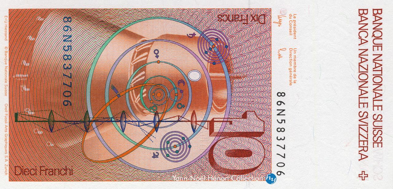 VERSO 10 francs Type 1979
