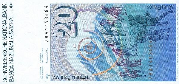 VERSO 20 francs Type 1978