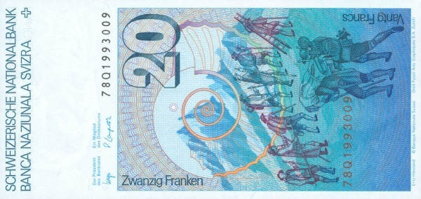 VERSO 20 francs Type 1978