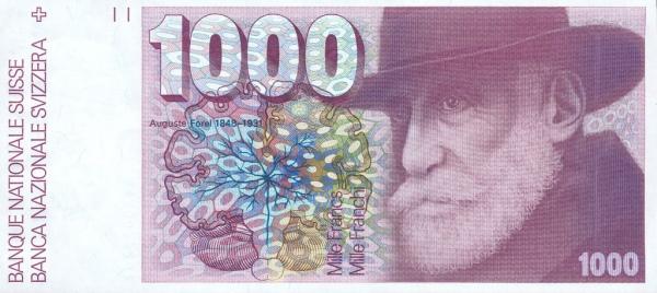 RECTO 1000 francs Type 1977