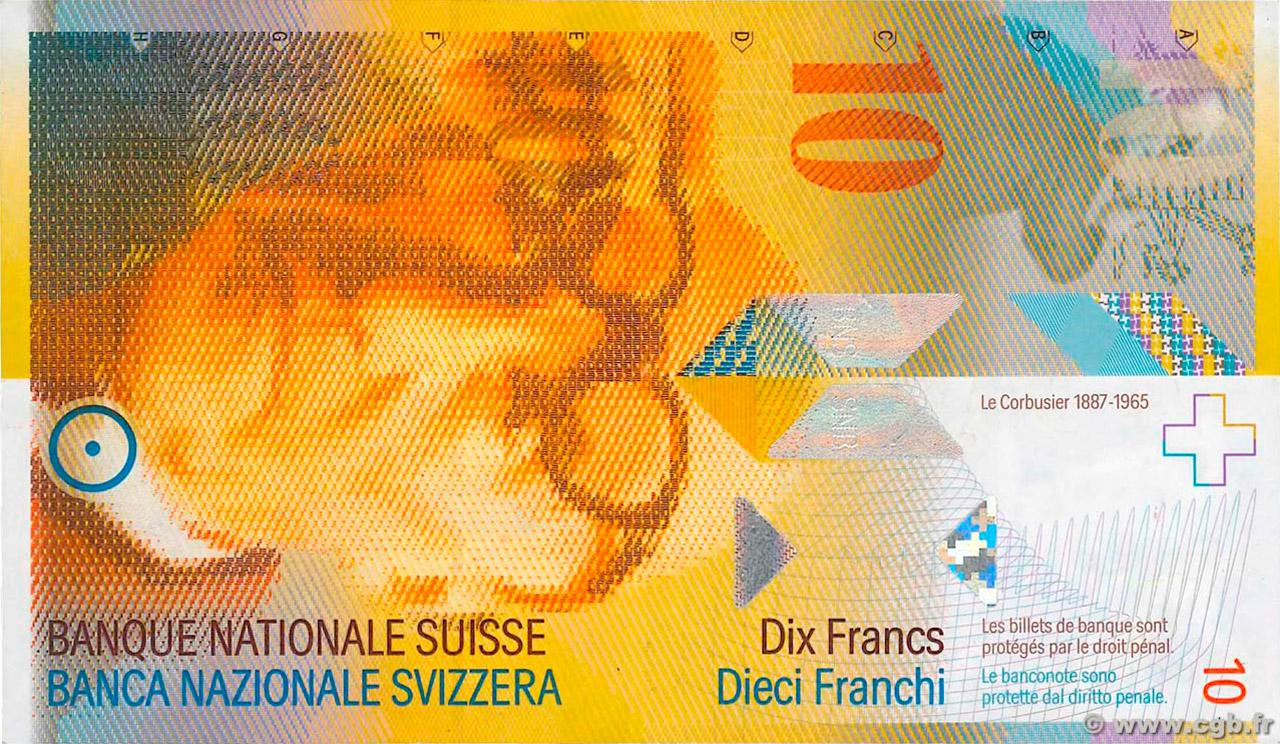 RECTO 10 francs Type 1995