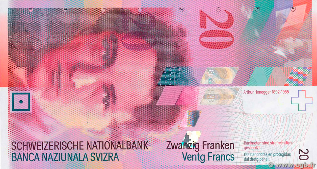 RECTO 20 francs Type 1994