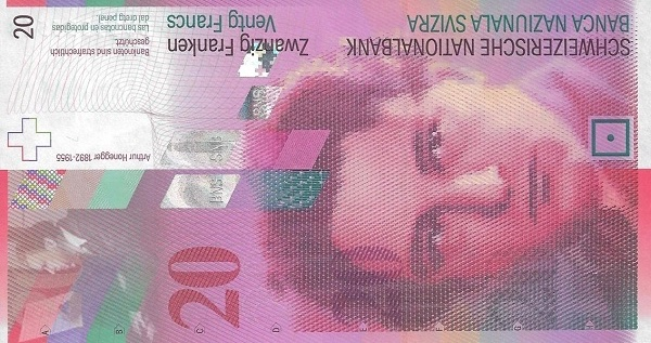 RECTO 20 francs Type 2003