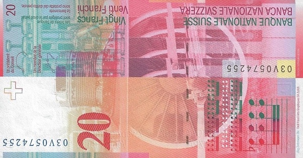 VERSO 20 francs Type 2003