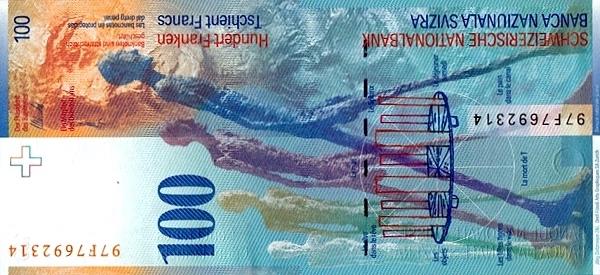 VERSO 100 francs Type 1996