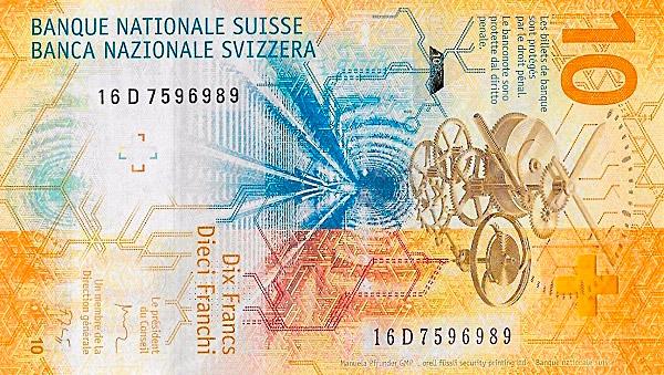 VERSO 10 francs Type 2016