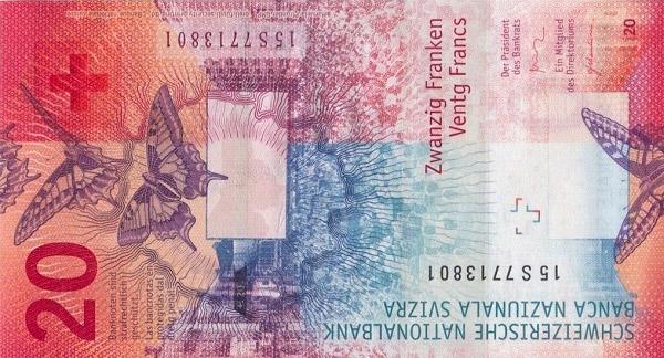 VERSO 20 francs Type 2015