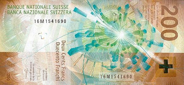 VERSO 200 francs Type 2016
