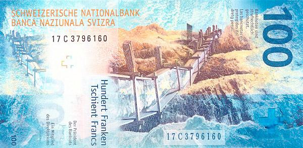 VERSO 100 francs Type 2017