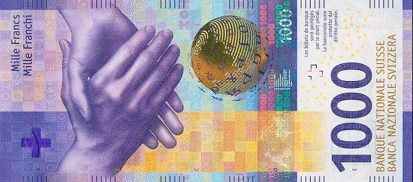 RECTO 1000 francs Type 2017