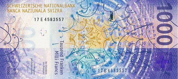 VERSO 1000 francs Type 2017