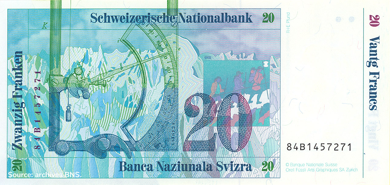 VERSO 20 francs Type 1984 not issued