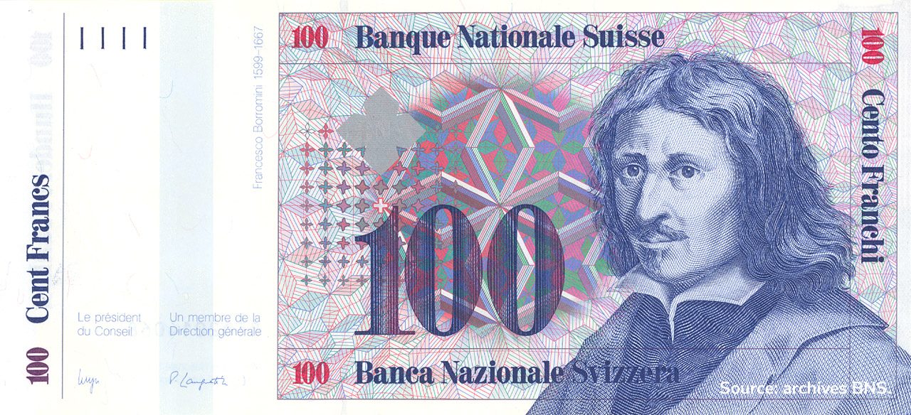 RECTO 100 francs Type 1985 not issued