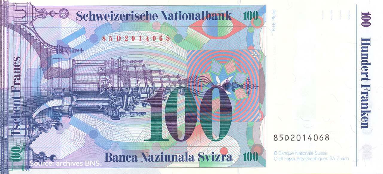 VERSO 100 francs Type 1985 not issued