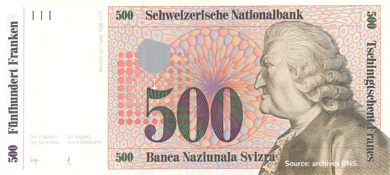 RECTO 500 francs Type 1985 not issued
