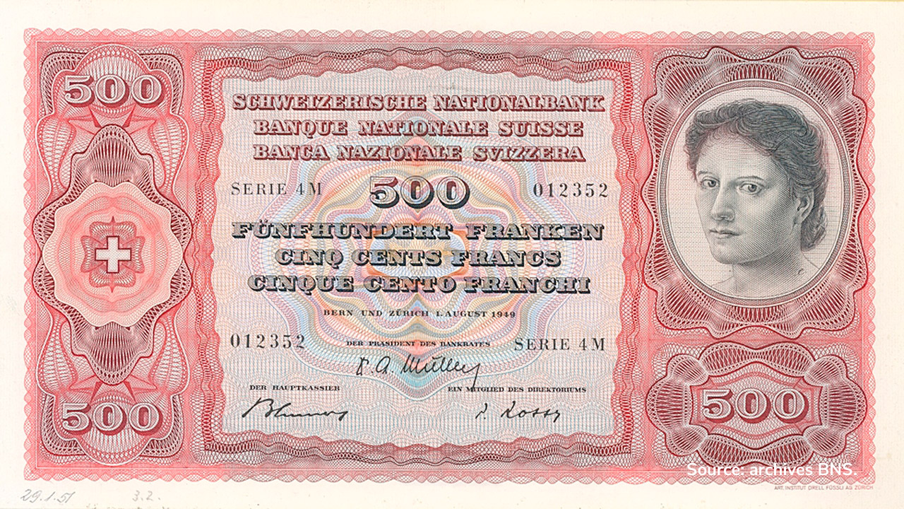 RECTO 500 francs Type 1949 not issued