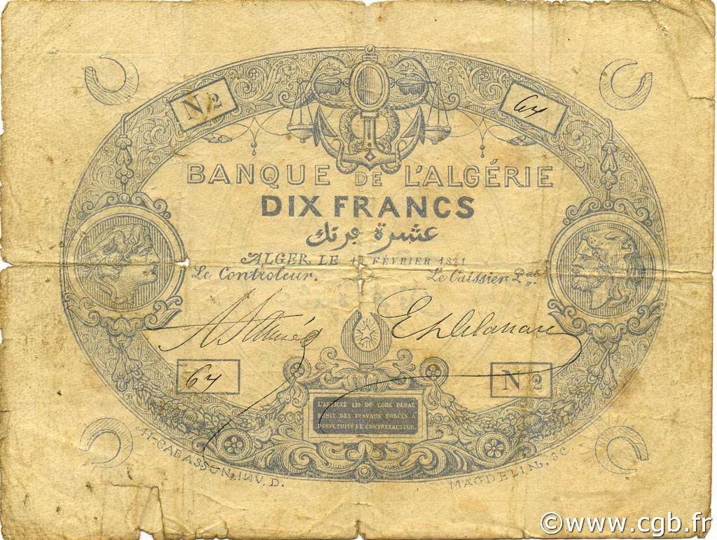 RECTO 10 francs Blue Type 1871