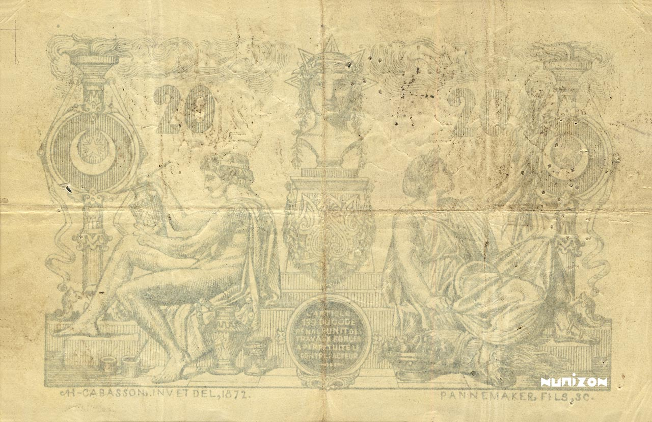 VERSO 20 francs Blue Type 1873 (Alger)