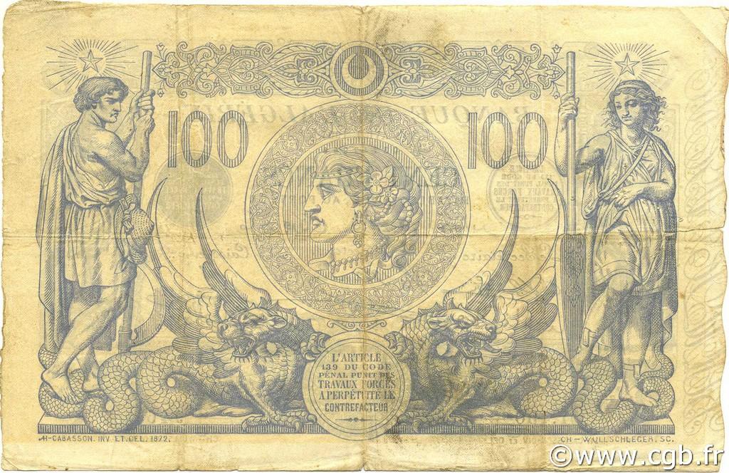 VERSO 100 francs Bleu Type 1874 (Alger)