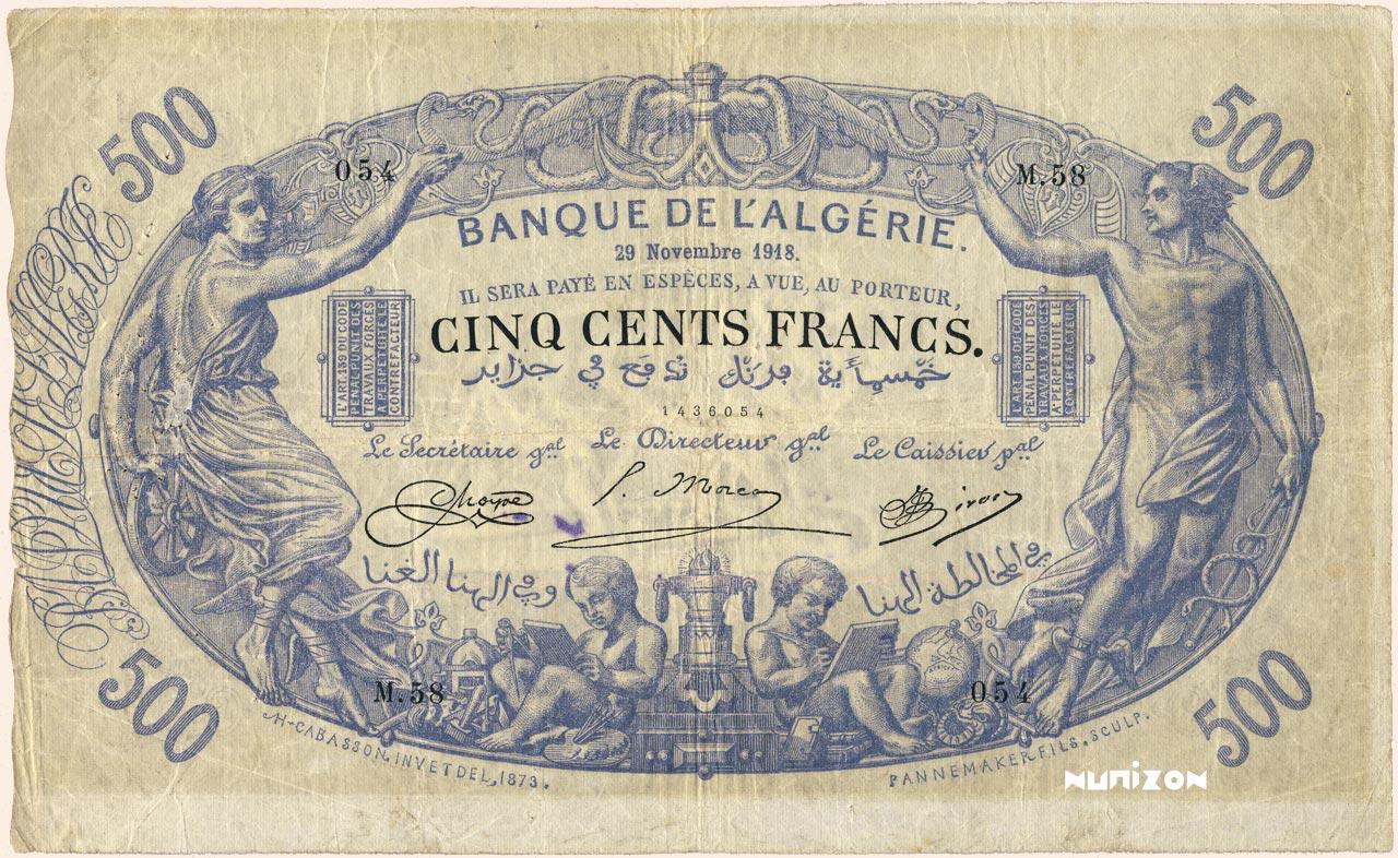 RECTO 500 francs Blue Type 1874