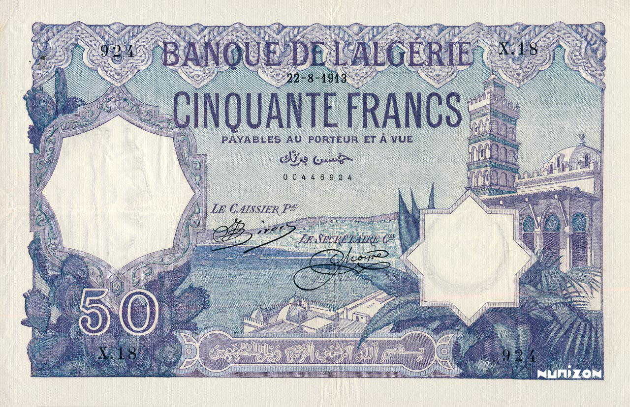 RECTO 50 francs Violet Type 1912