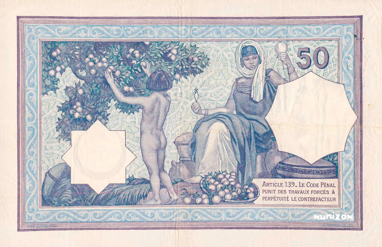 VERSO 50 francs Violet Type 1912