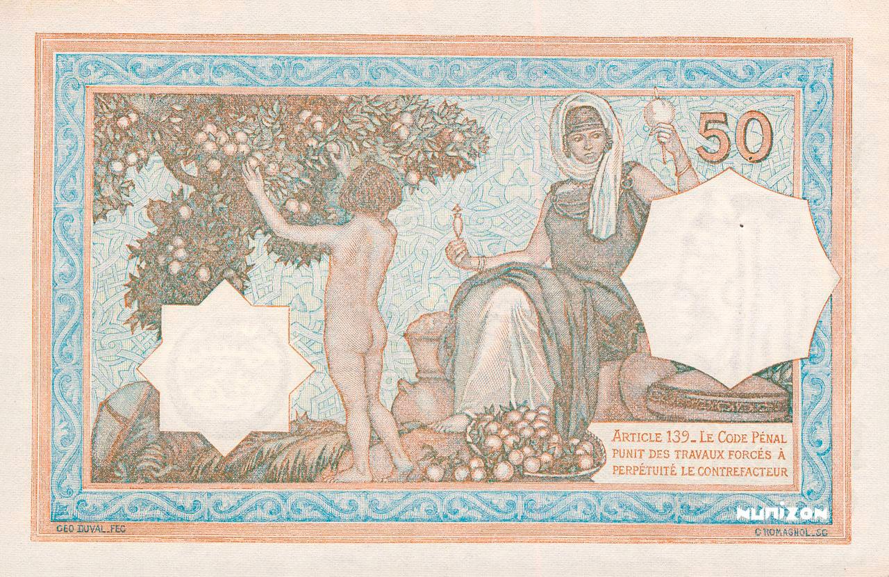 VERSO 50 francs Vert Type 1912