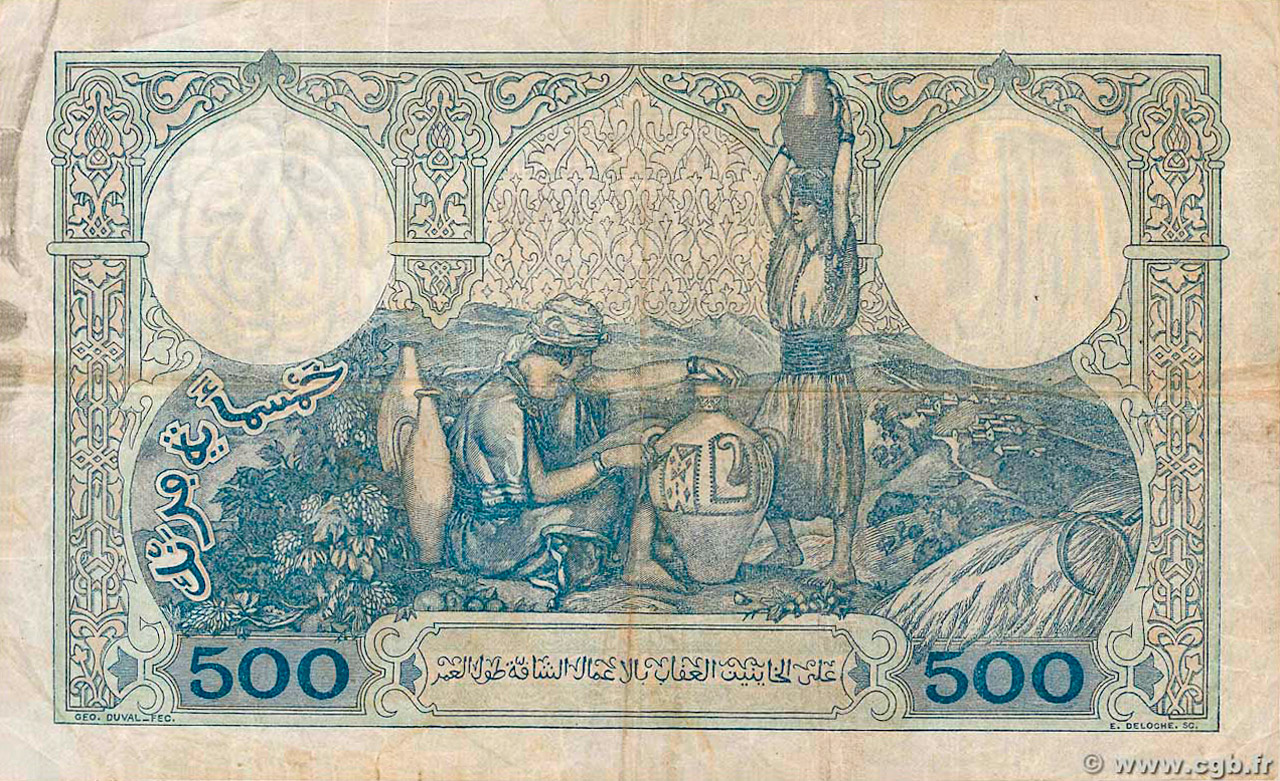 VERSO 500 francs Type 1926