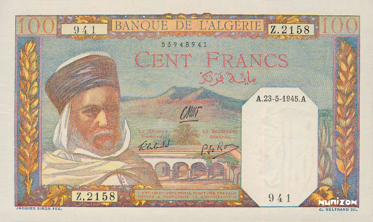 RECTO 100 francs Type 1938