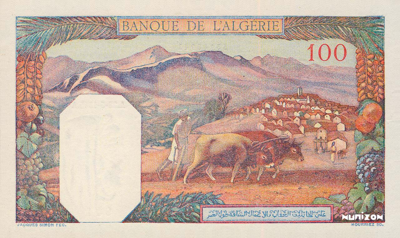 VERSO 100 francs Type 1938