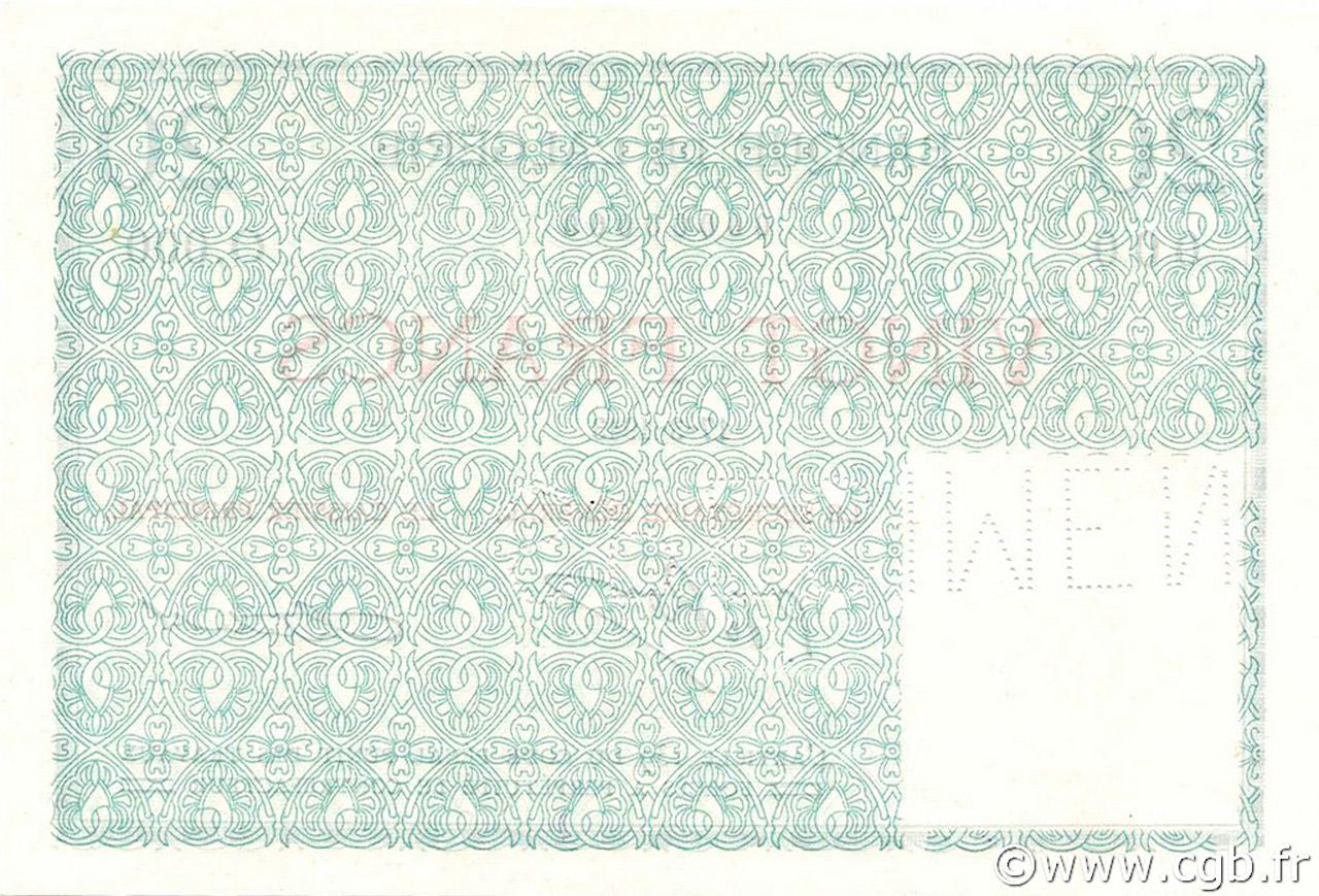 VERSO 20 francs Type 1943 éssai