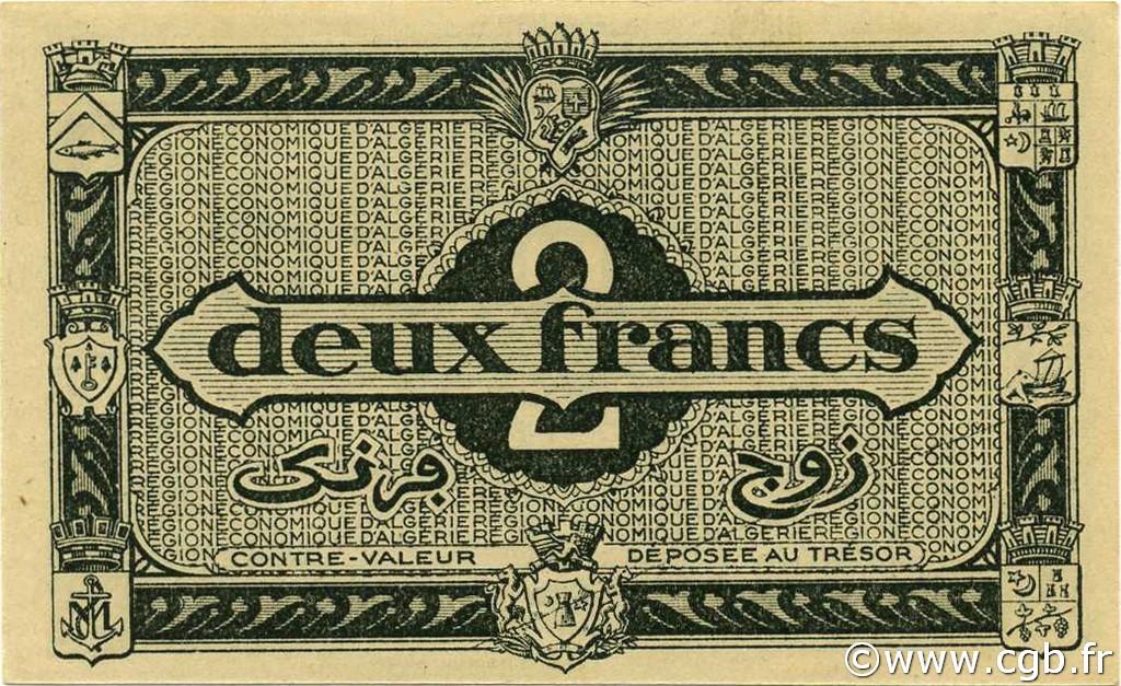 VERSO 2 francs  Type 1944 1er tirage