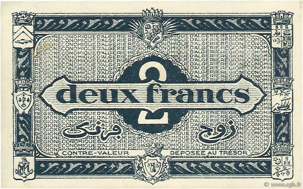 VERSO 2 francs  Type 1944 2e tirage