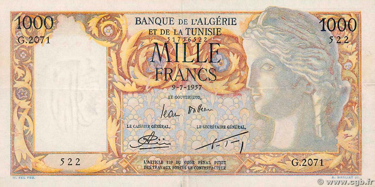 RECTO 1000 francs Isis Type 1946 modifié