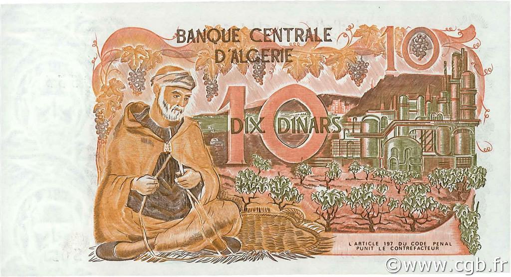 VERSO 10 dinars Type 1970