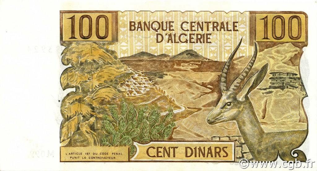 VERSO 100 dinars Type 1970