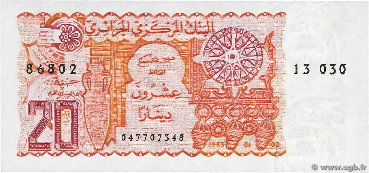 RECTO 20 dinars Type 1983